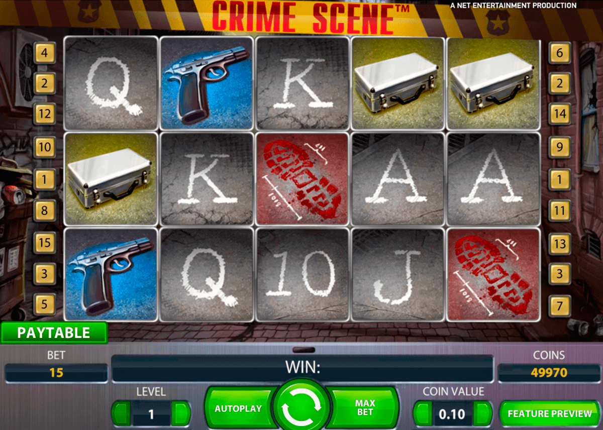 Crime scren homepage